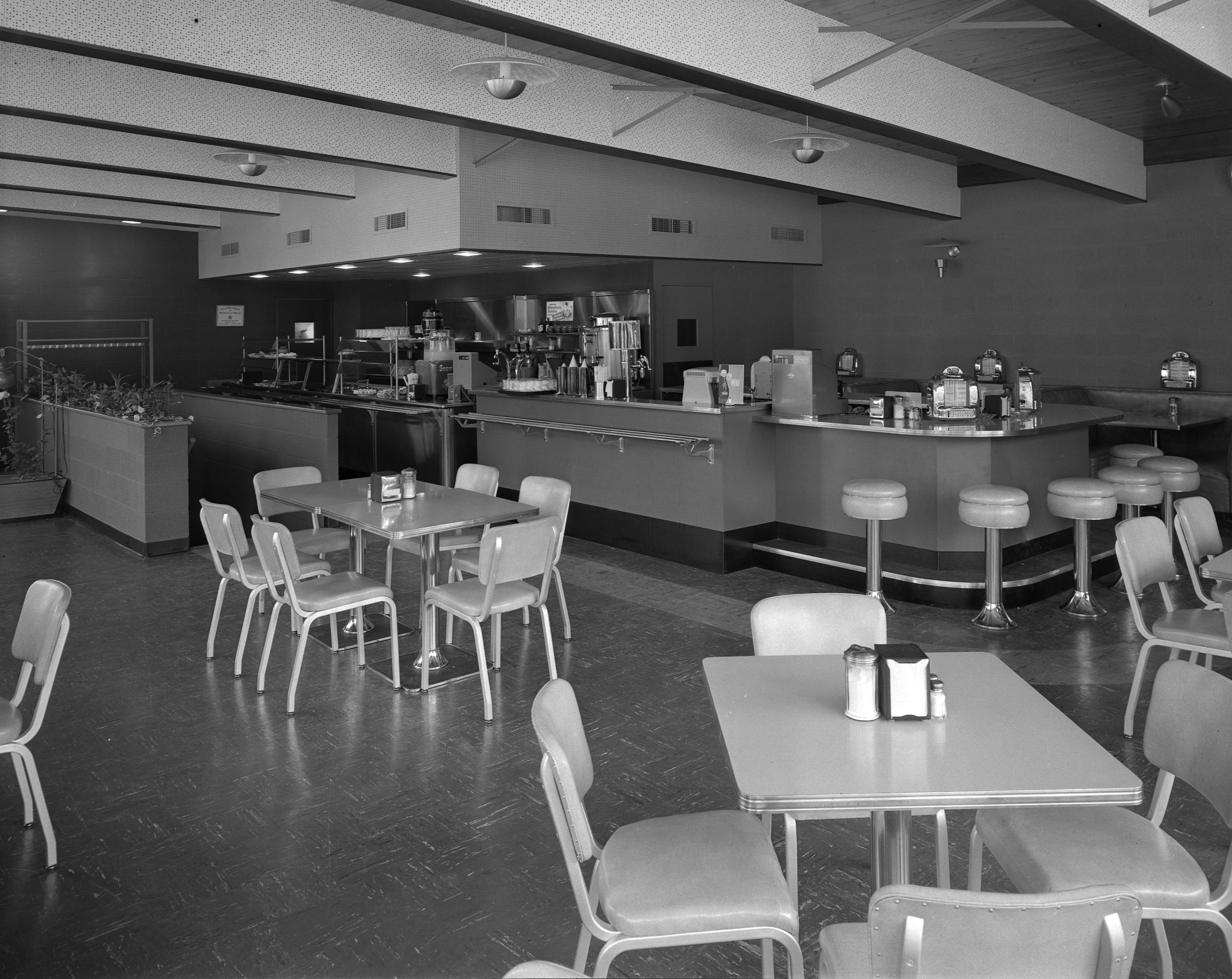 Original Interior of the Varsity Grill 1954