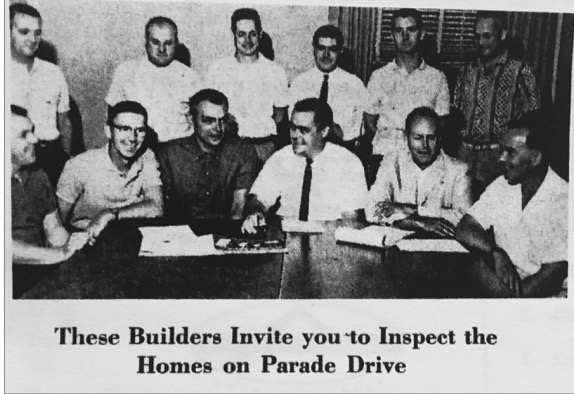 1959 PARADE OF HOMES BUILDERS