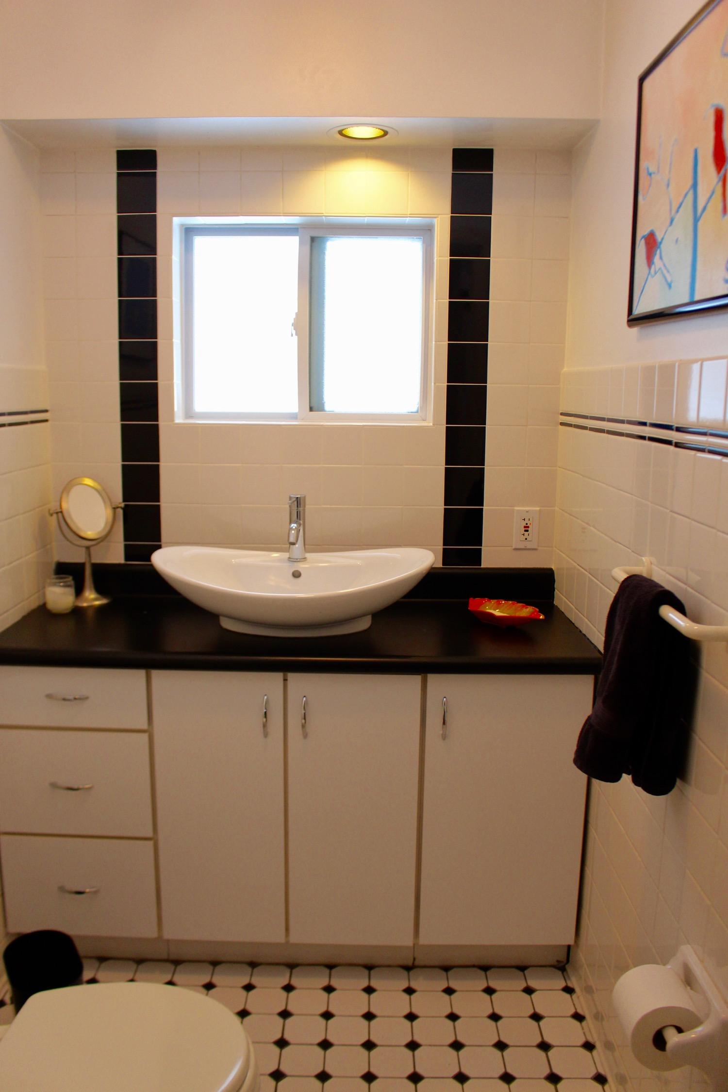 Guest bath near the kitchen