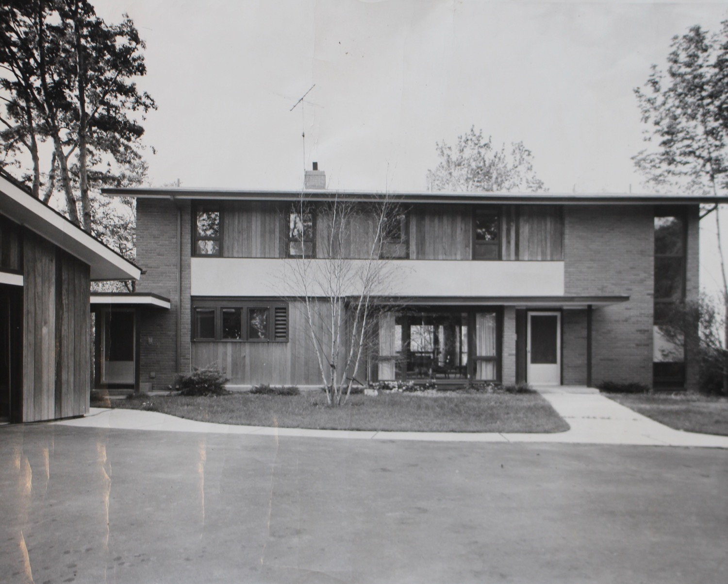 Dr. Swanson House, Exterior.  Slide  taken at time of construction from Firant Family archives.