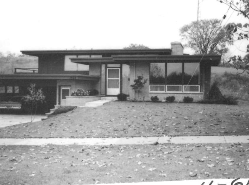 1961 photo of home designed by James Bronkema in 1960 - an example of his modern designs| Photo courtesy of the Grand Rapids City Archives