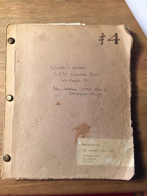 Photo of original document by Steve Romkema.