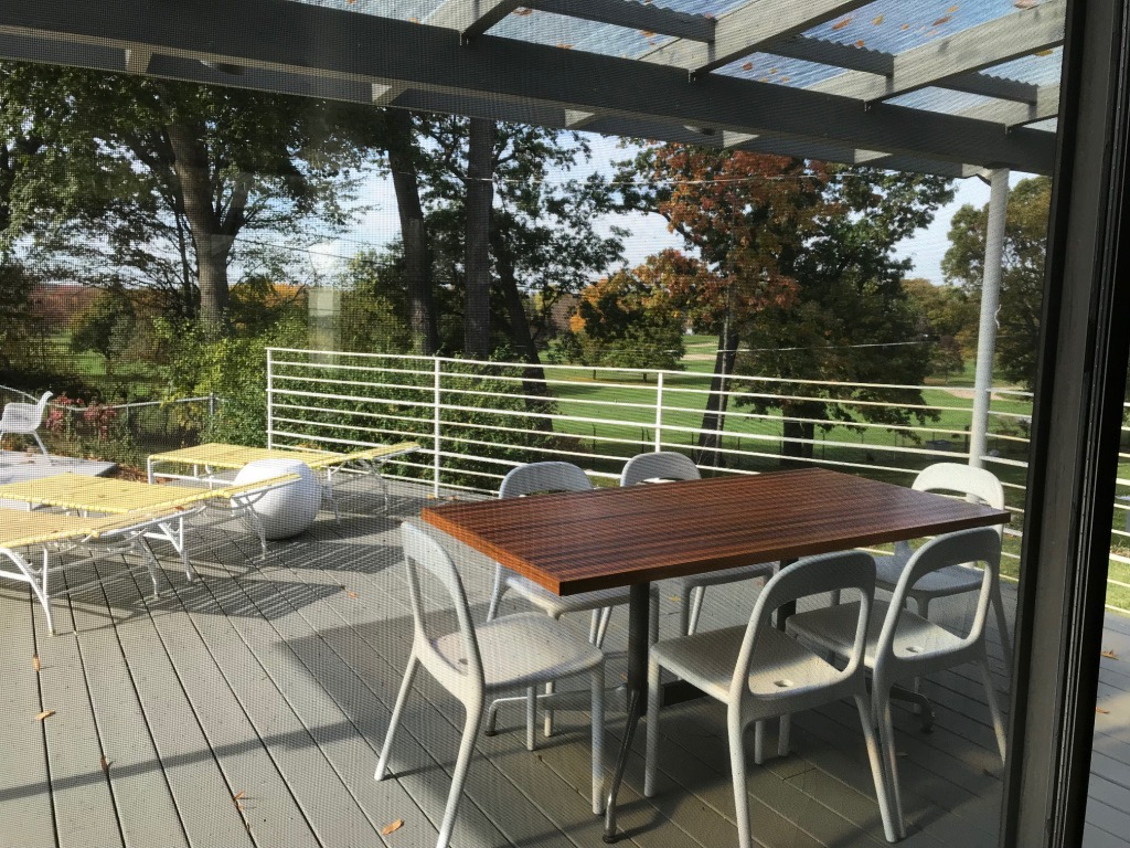 DECK SEATING WITH VIEW OF GOLF COURSE