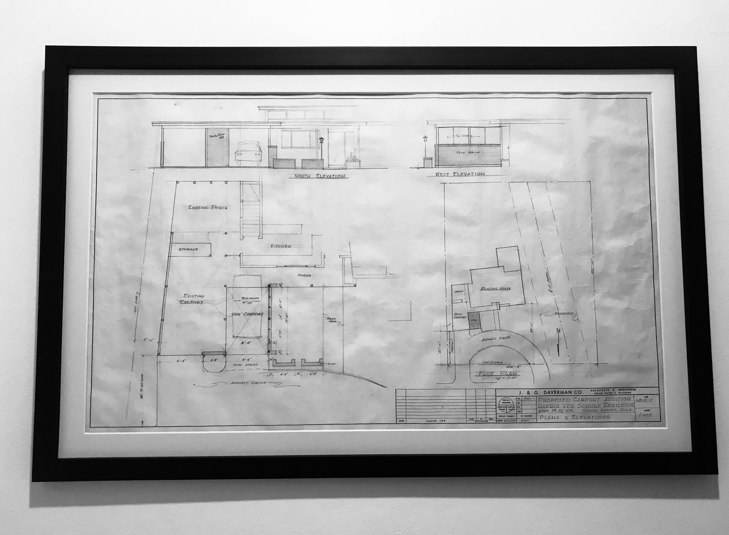 ORIGINAL ELEVATION DRAWING FOUND IN THE HOUSE