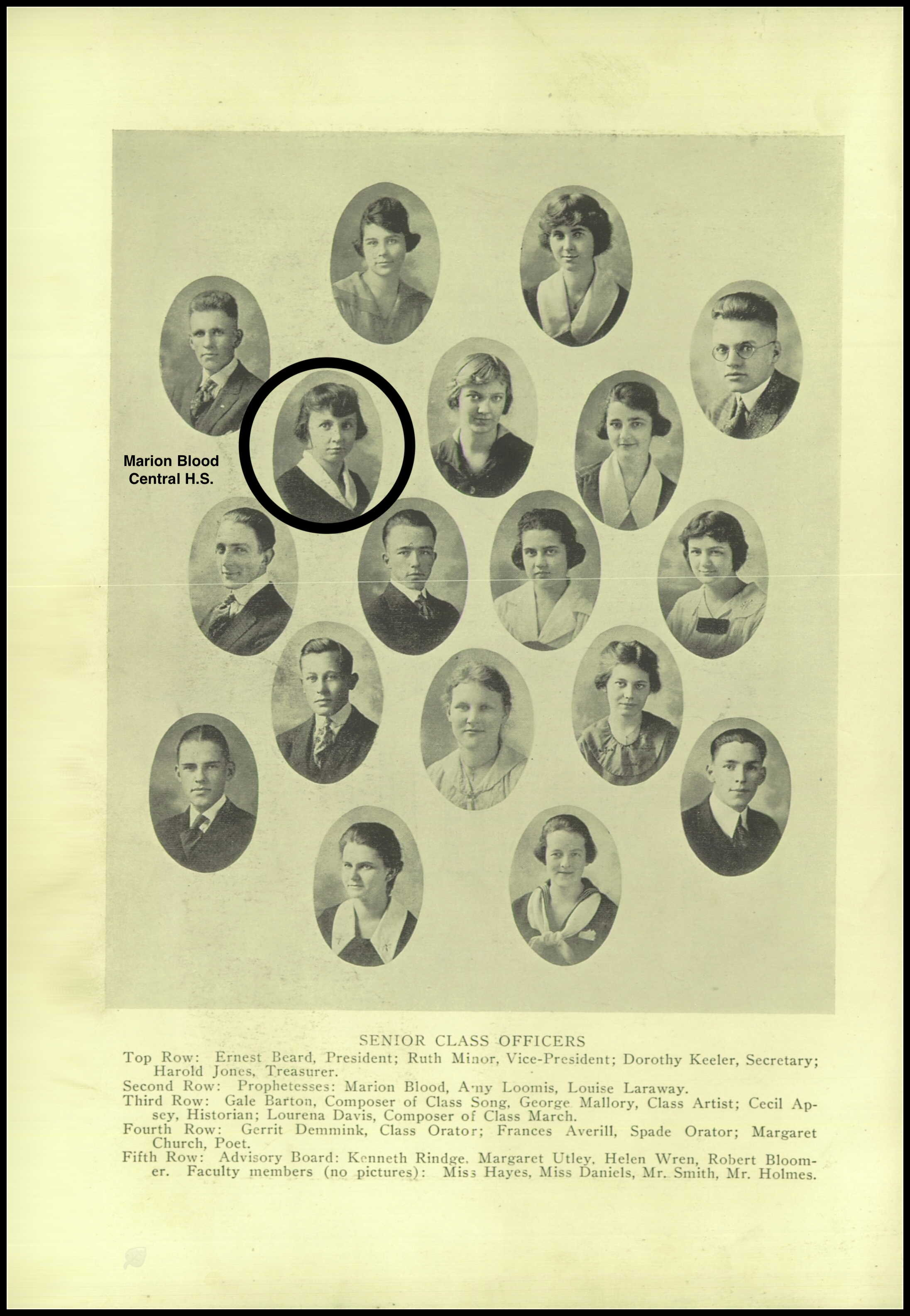 CENTRAL HIGH SCHOOL YEARBOOK 1918