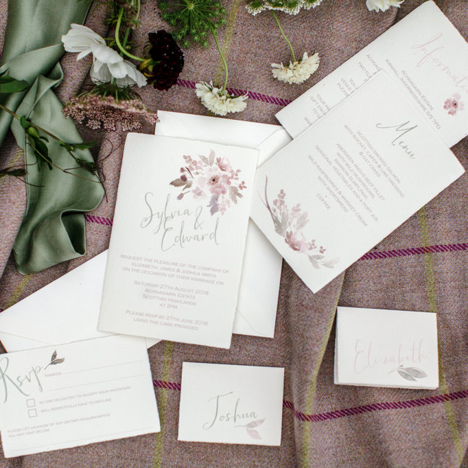 Well Travelled Bride Scottish Highlands Scotland Wedding Invites