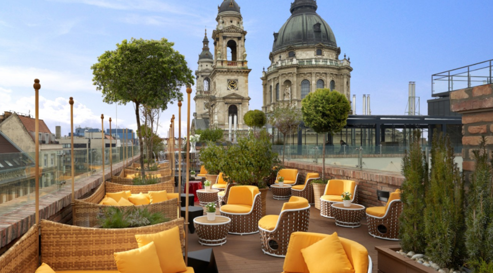 A Rooftop Bar With Stunning Budapest Views - We love the Aria Hotel for a long weekend of beauty sleep and mimosas, but for smaller weddings with punchy wow factor, the Aria might be at the top of our list. With breathtaking panoramic views of Budapest's historic architecture and a mere minutes' walk from St. Stephen's Basilica, there could hardly be a more photogenic location in all of Budapest. Perfect for intimate weddings with only your closest friends and family where you can toast your new adventure under the glorious Hungarian sky.Visit WebsitePhone: +36204388648Email: skybar@ariahotelbudapest.comFacebook / Instagram