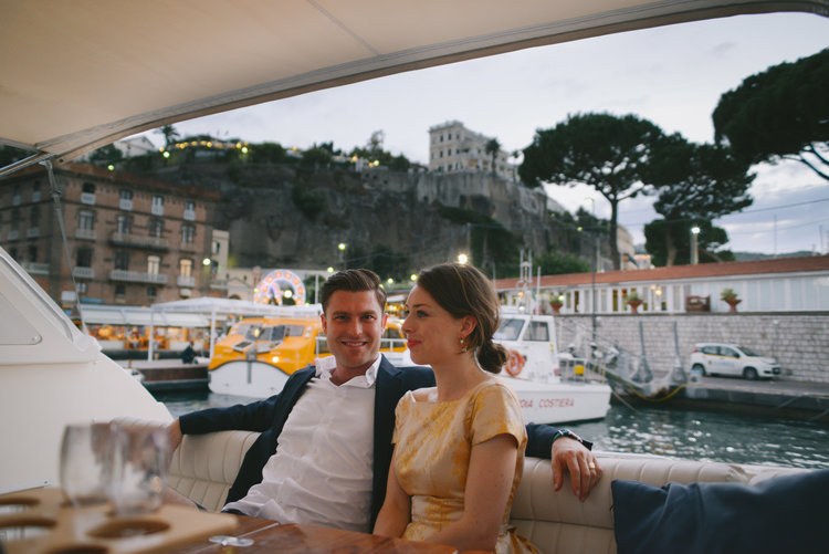 Well Travelled Bride Amalfi Coast Romantic Honeymoon Boat Dinner.jpg