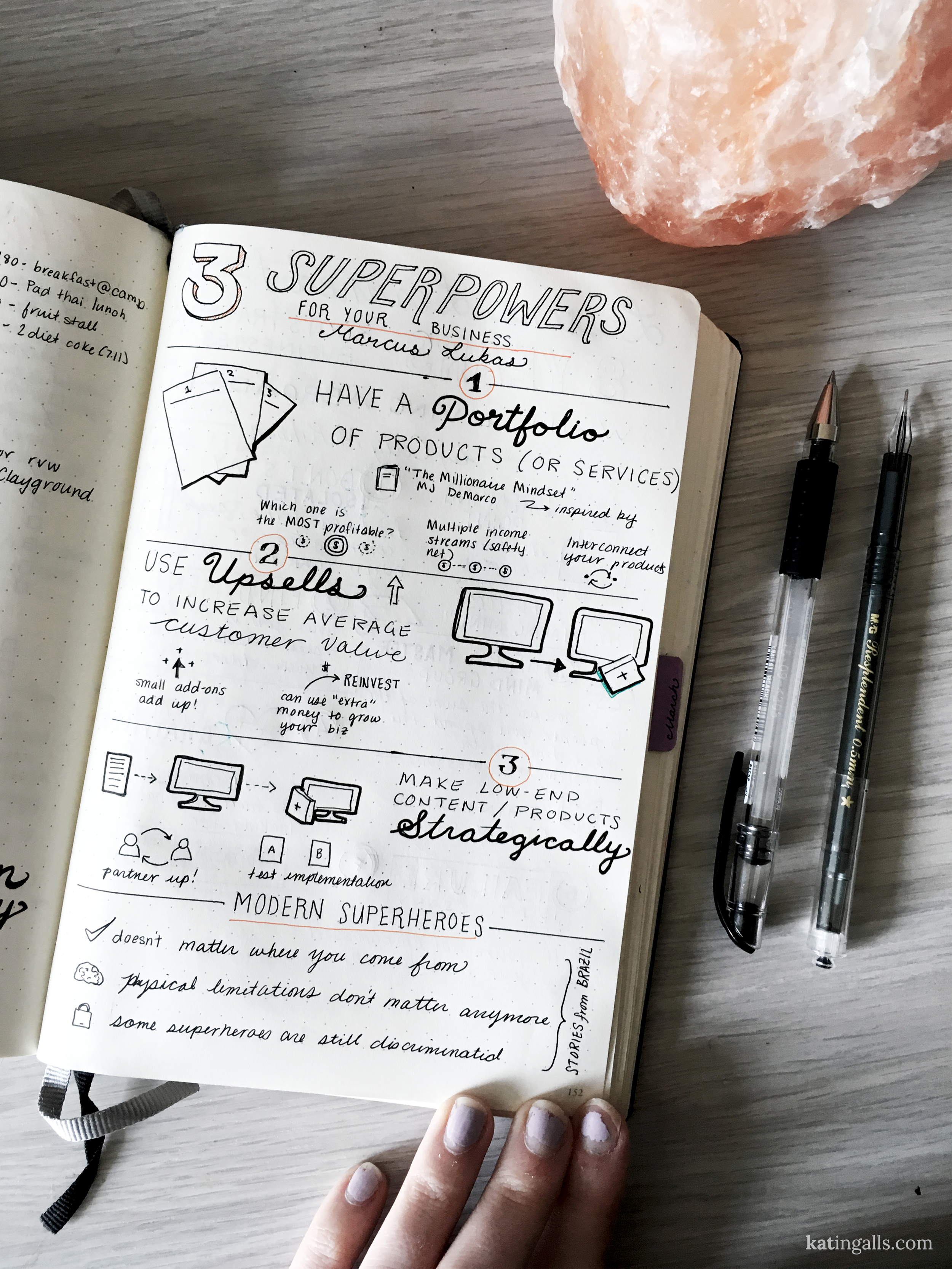 Sketchnotes from Digital Nomad Summit 2016 by Kat Ingalls // Talk by Marcus Lukas