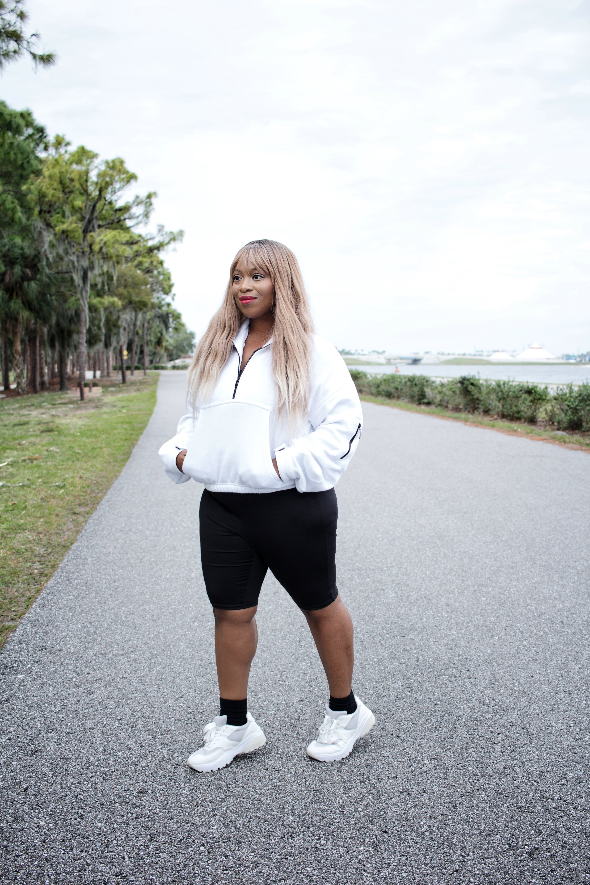 ZIP FRONT JACKET:  CLICK HERE   CHUNKY SOLE SNEAKERS:  CLICK HERE