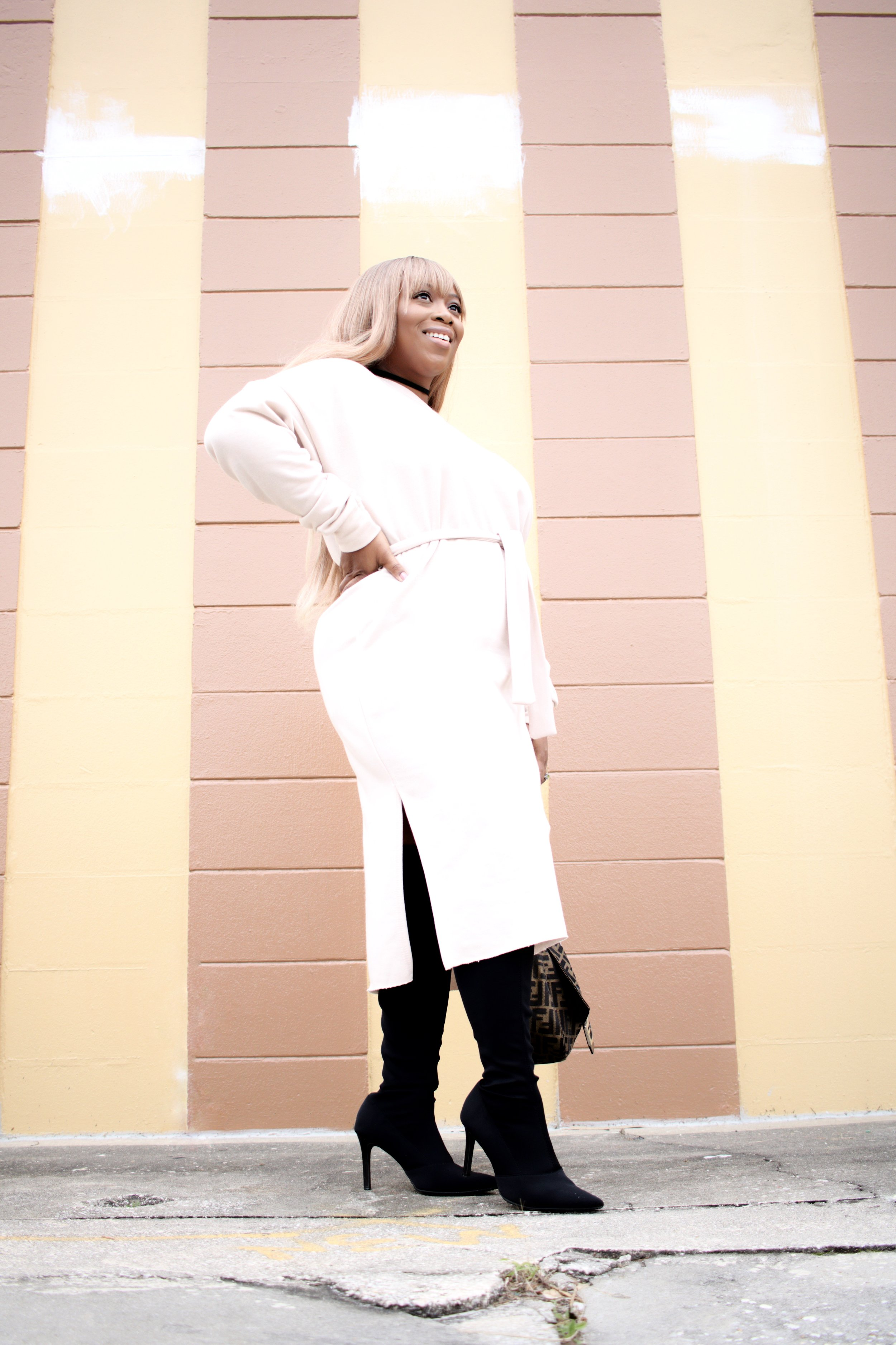 SELF-BELT SWEATER DRESS   BELTING GIVES YOU AN ILLUSION OF HAVING A DEFINED WAIST AND PROPORTIONS YOUR BODY INSTANTLY!