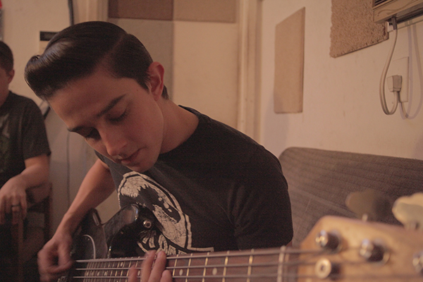 NickDave laying down some bass