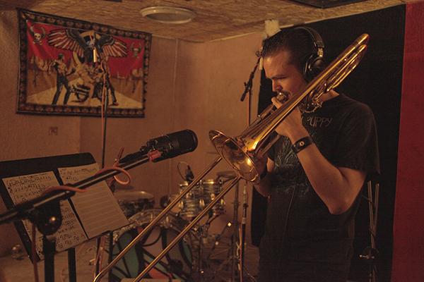 Jhef adding his trombone into the mix
