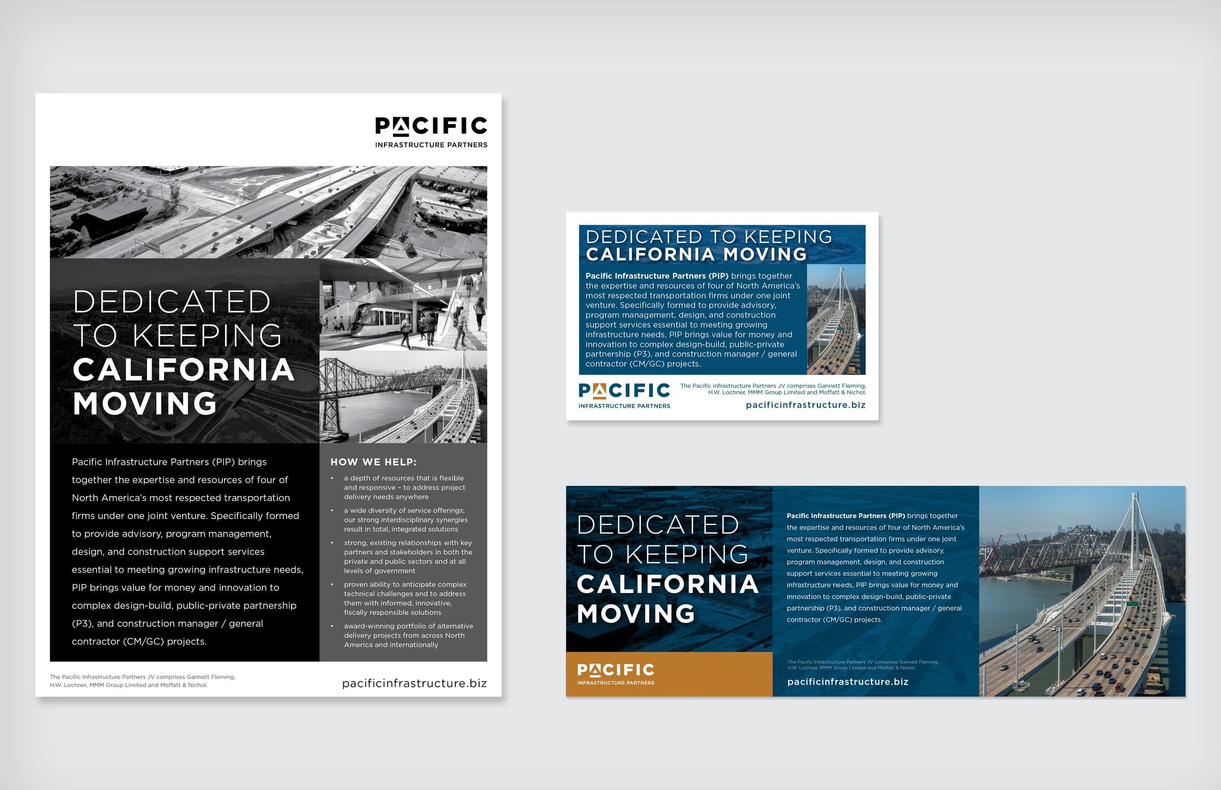 Pacific Infrastructure Partners - Web & Print Ads