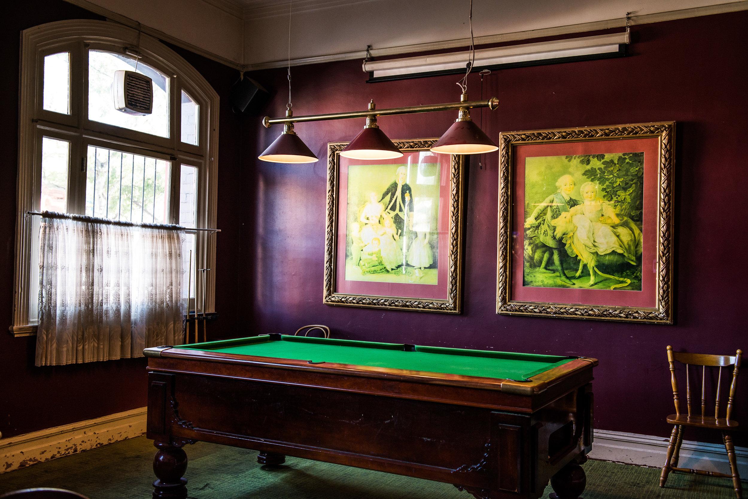 Pool Room -