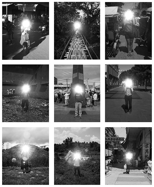 Anonymity  , 2004-2012   set of nine images, chromogenic transparencies in lightboxes, edition: unique, nine parts, 53x50x3.5 cm each