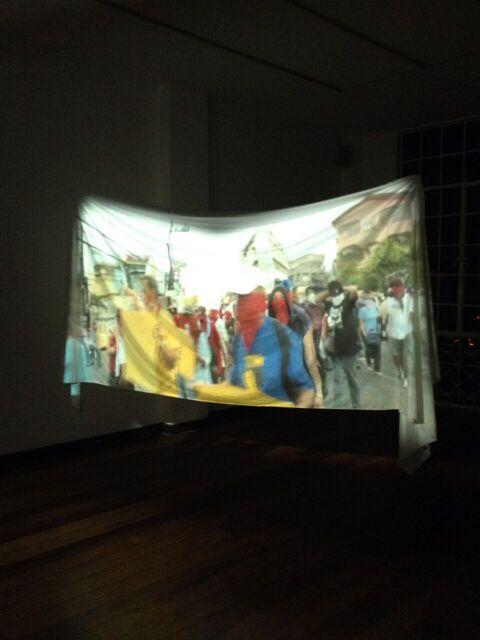 installation view: Erased Slogans