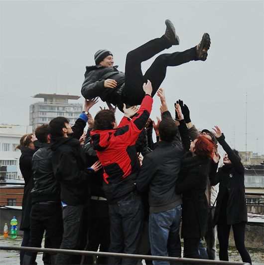 Tossing socialists in the air in Romania , 2010 Social Intervention Performance Video , 29'09