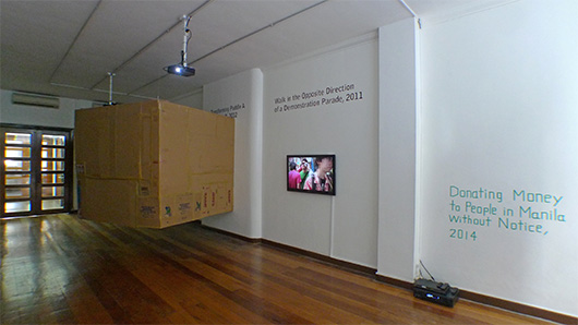 Installation view, artworks by: Yoshinori Niwa