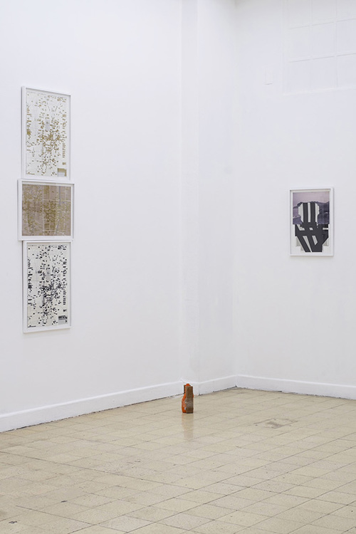 installation view, artworks by: Mark Salvatus