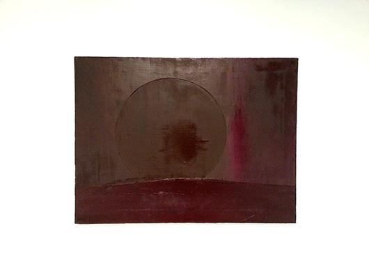 Untitled, Dominic Mangila, oil on linen, 46 x 60 cm, 2013