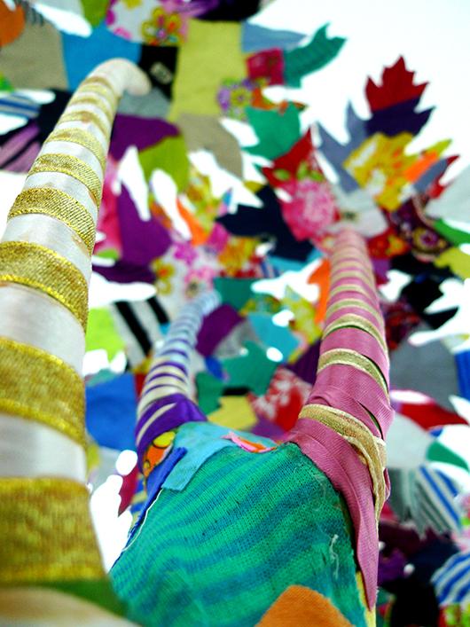 Valeria Cavestany, Papaya Tree, textile and plaster, 2013.