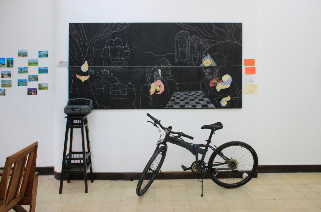 Installation view; artworks  by Carlos Celdran