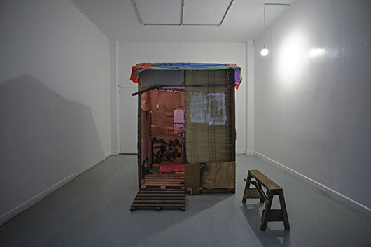 Installation view, artwork by: Indy Paredes