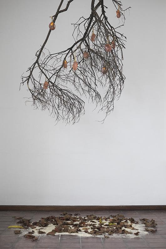 Installation view, artwork by: Iya Regalario