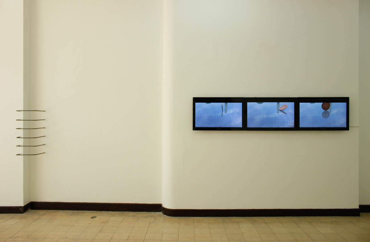 Installation view, (left) Seamless Incongruence & (right) face value ;artworks by Jose Luis Singson