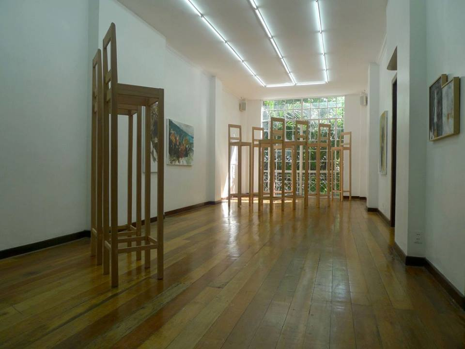 Installation view, artworks by: Rinne Abrugena
