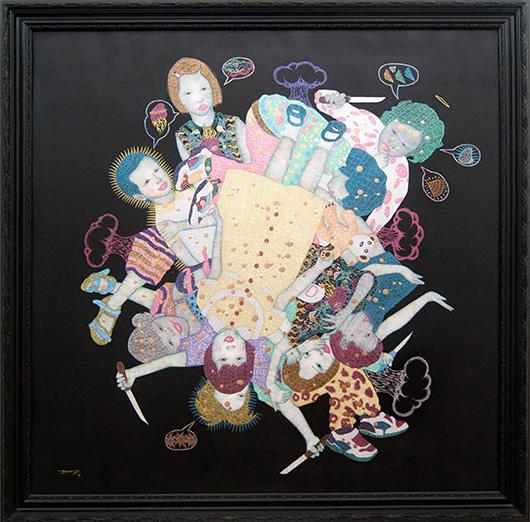 Trauma , 2014 Mixed Media on Canvas, 140.5x140.5 cm