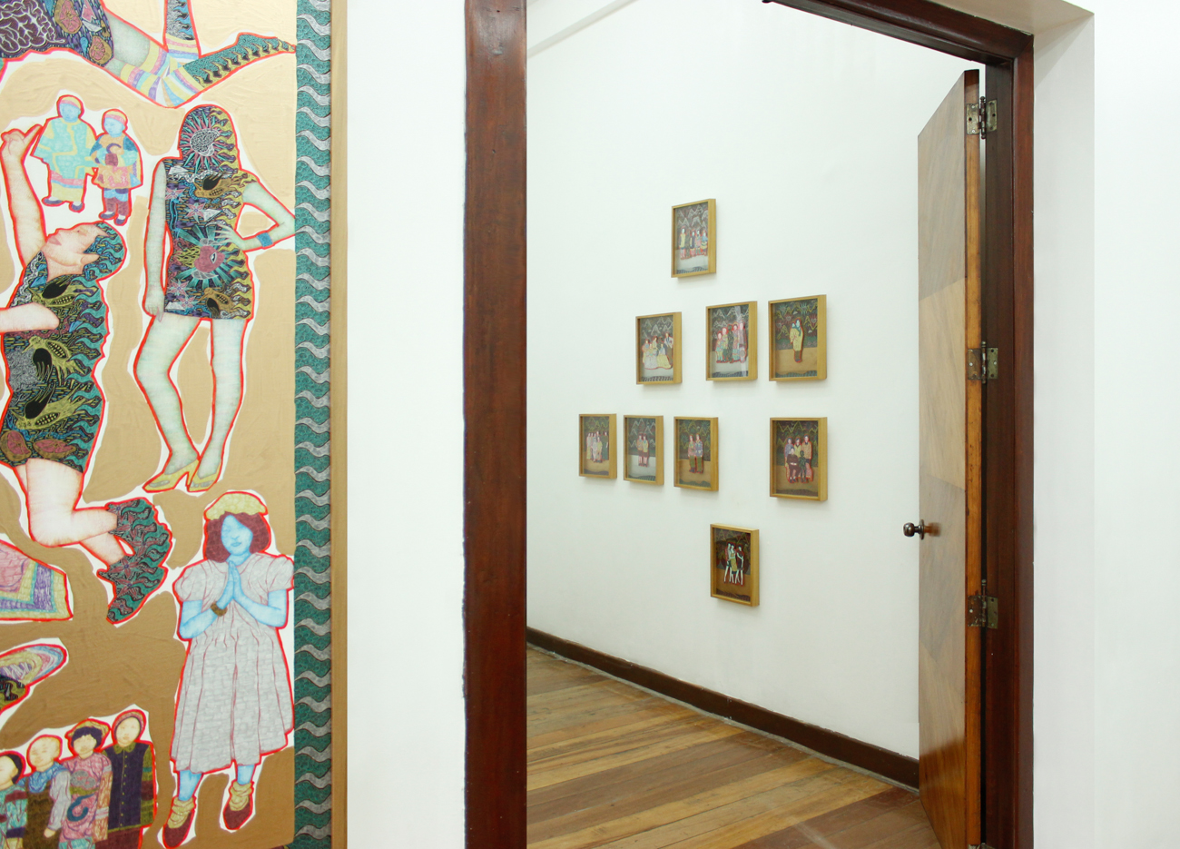 Installation view, Identity Crisis (left) & Timeline (right);artworks by Dexter Sy