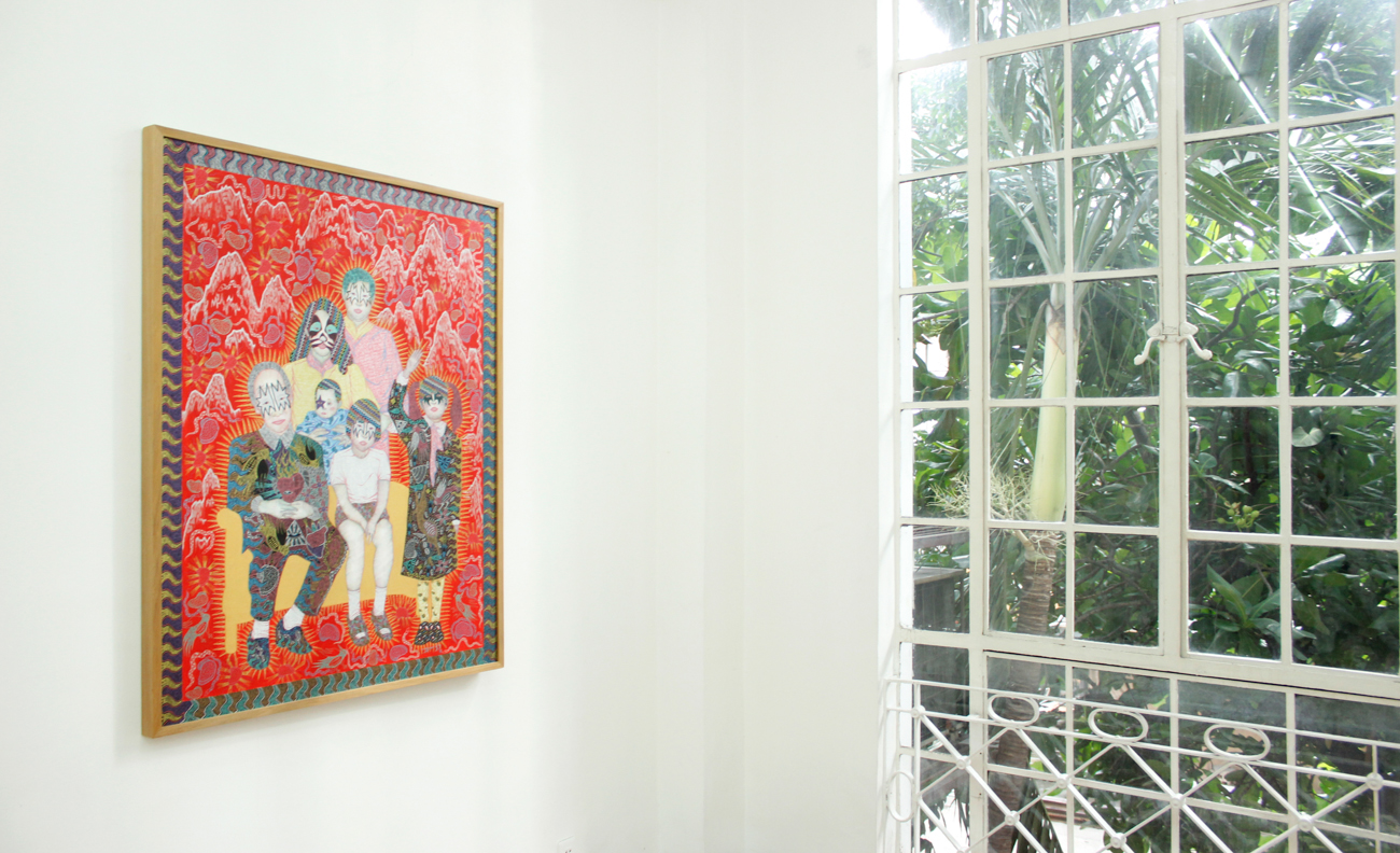 Installation view, The Self Recognized by the Others; artwork by Dexter Sy