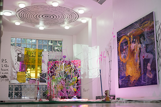 Installation view, artwork by: Maria Jeona Zoleta
