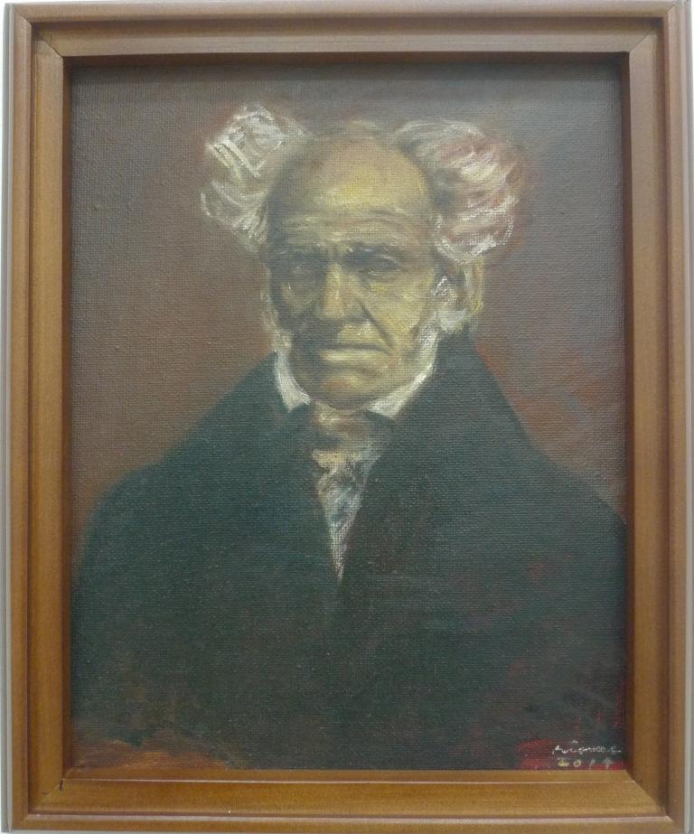 ARTHUR SCHOPENHAUER , 2014 Oil on canvas 20.5 x 25.4 cm