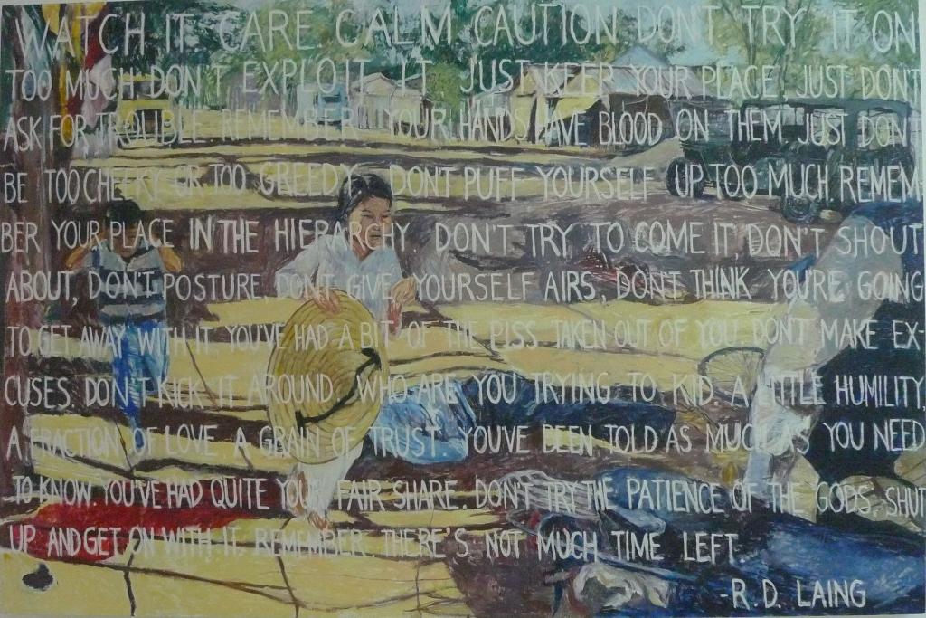 R.D. LAING , 2014 Acrylic on canvas 122 x 183 cm
