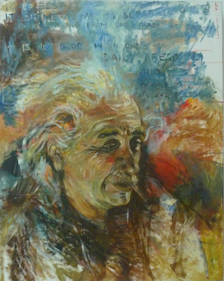 ALBERT EINSTEIN , 2014 Acrylic on canvas 63.5 x 76 cm
