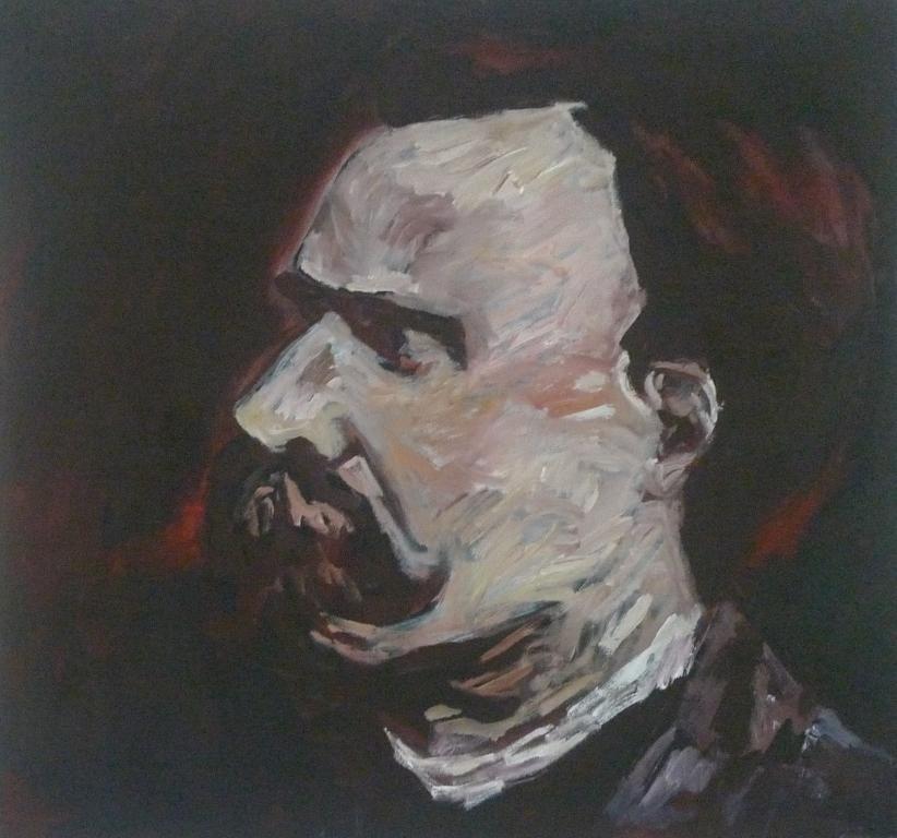 FRIEDRICH NIETZSCHE , 2014 Acrylic on canvas 76 x 76 cm