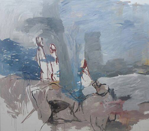 Domestic Life , 2016. Acrylic on canvas  213.5 x 243.5 cm