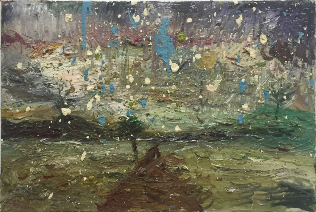 Mark Andy Garcia  Untitled , 2016. oil on canvas 50.8x76.2cm / 20x30in