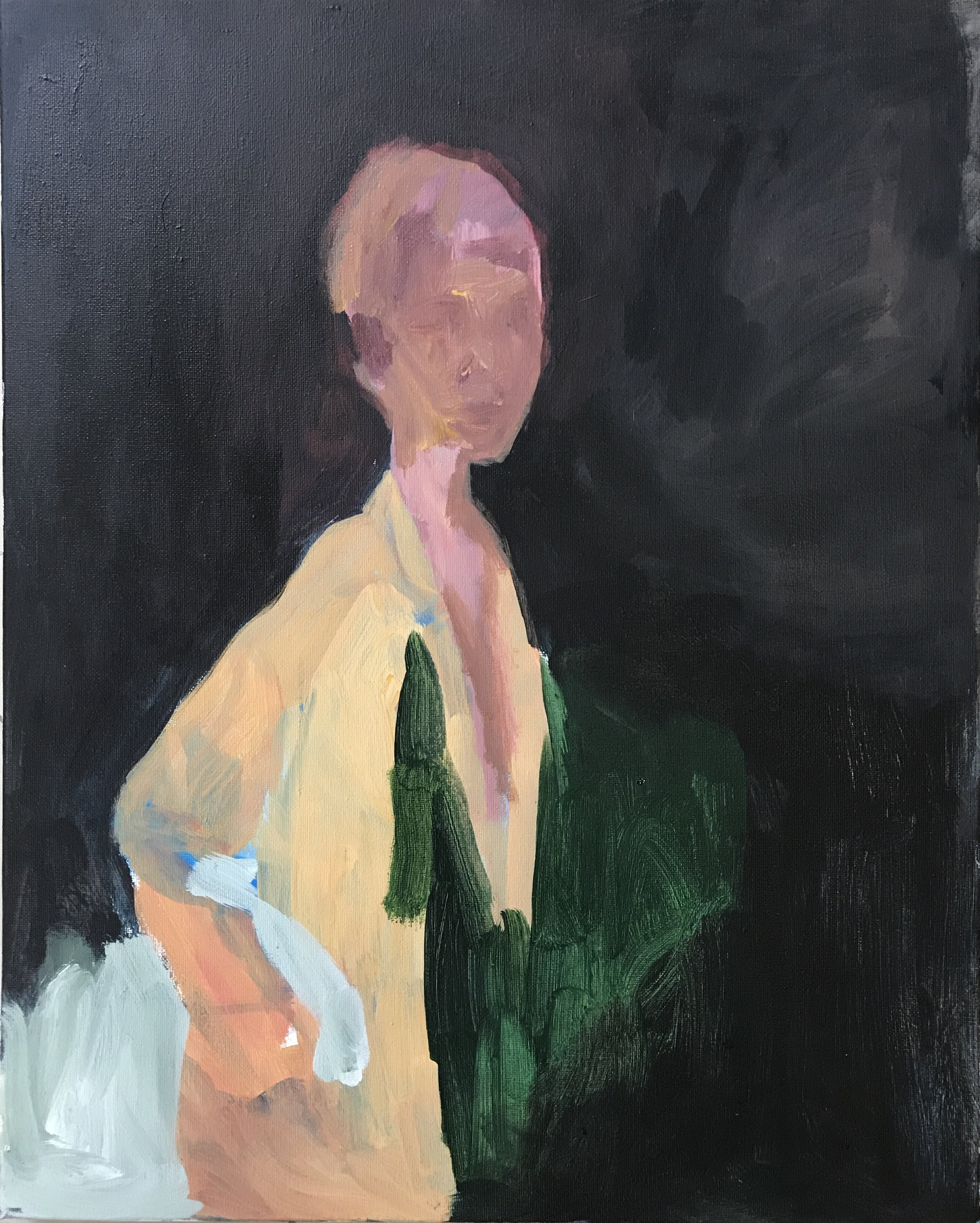 RINNE ABRUGENA   Portrait of a Girl , 2017 acrylic on canvas 50 x 40 cm