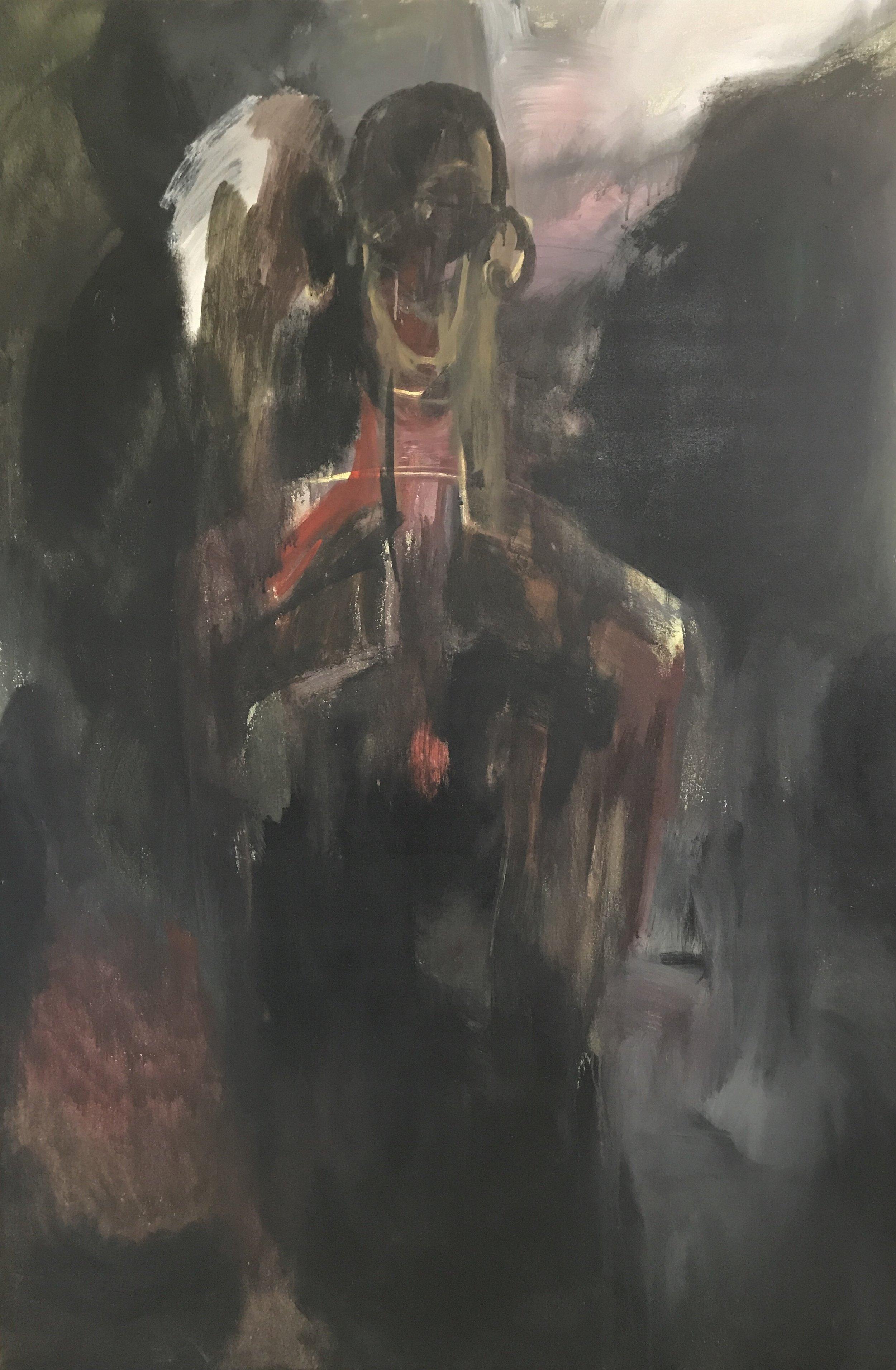 RINNE ABRUGENA   Man , 2017 acrylic on canvas 183 x 122 cm