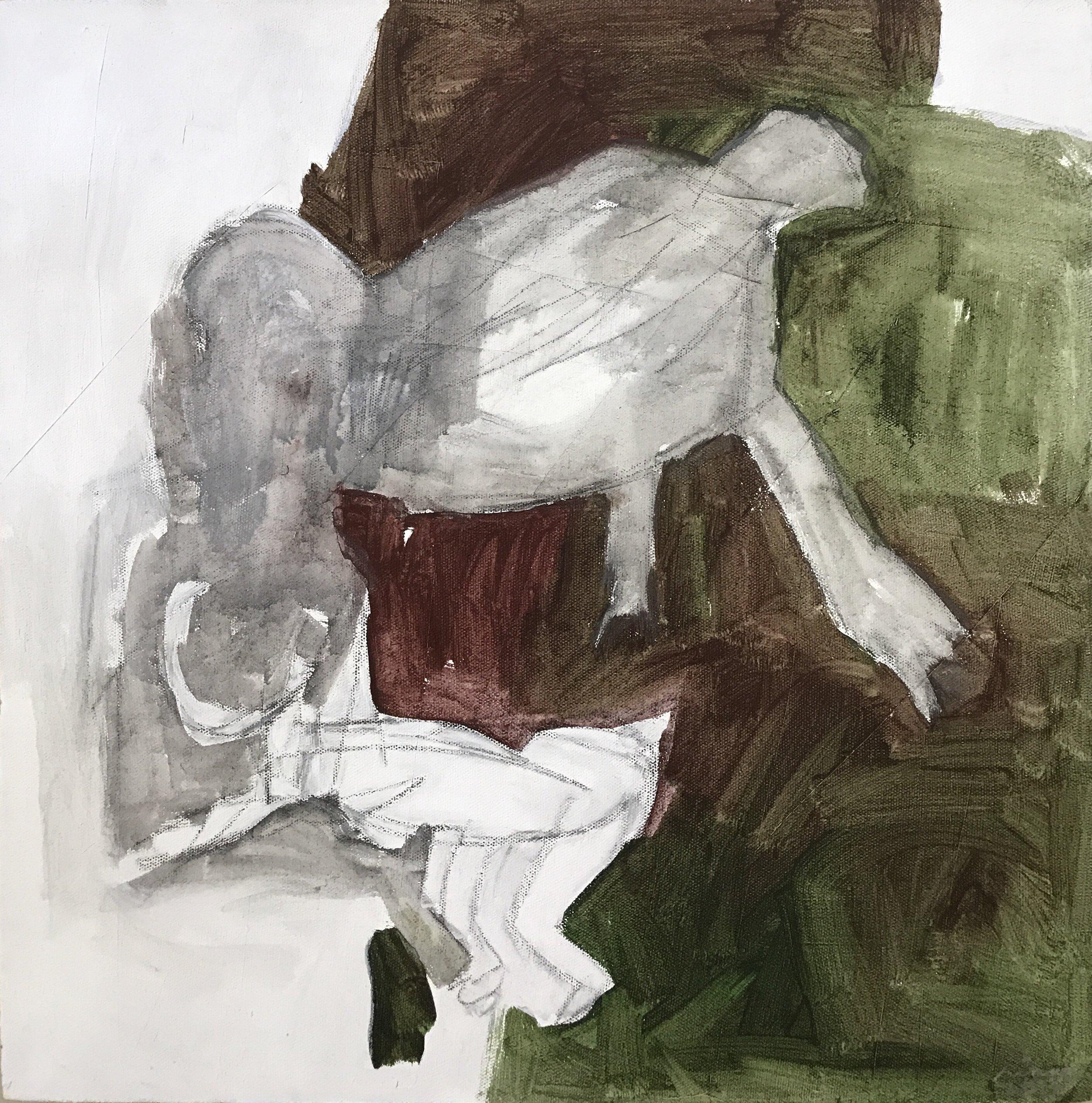 RINNE ABRUGENA   I Wish We Had All Been Born Birds (2 of 2) , 2017 acrylic on canvas 50 x 50 cm