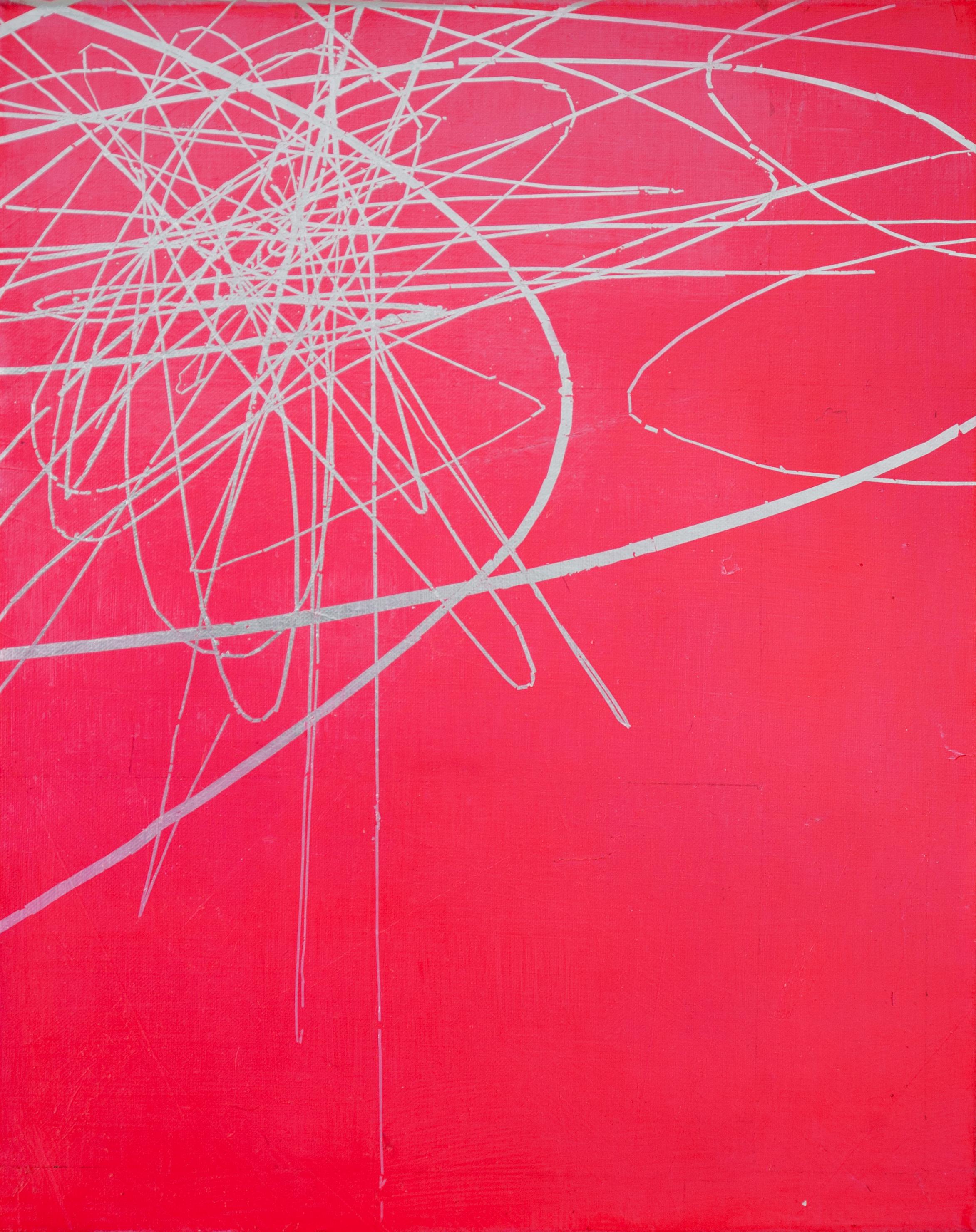 KLAUS WANKER   Sensitive Toleranznuancen 5 , 2016 oil alkyd and aluminium on canvas 50 x 40 cm