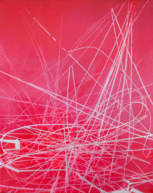 KLAUS WANKER   Sensitive Toleranznuancen 7 , 2016 oil alkyd and aluminium on canvas 50 x 40 cm