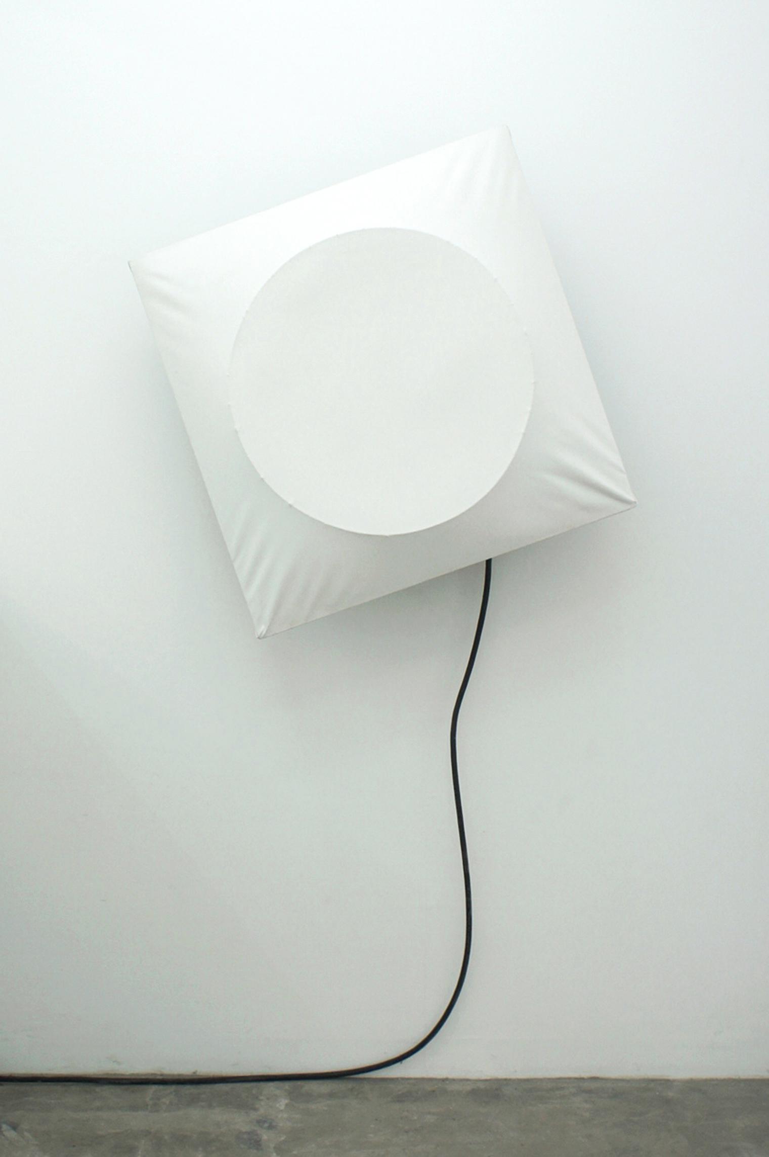 Poklong Anading  untitled, 2006/2017 canvas, exhaust fan, wood, metal 84.5 x 84.5 x 38 cm / 33.3 x 33.3 x 15 in / 2.8 x 2.8 x1.3 ft