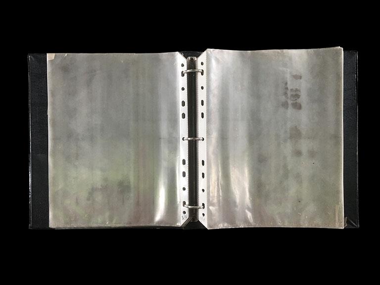 Poklong Anading  Dustfolio 2006 141 clearsheets, dust, folder 29.5 x 25.5 . 5 cm / 11.6 x 9.8 x 2 in