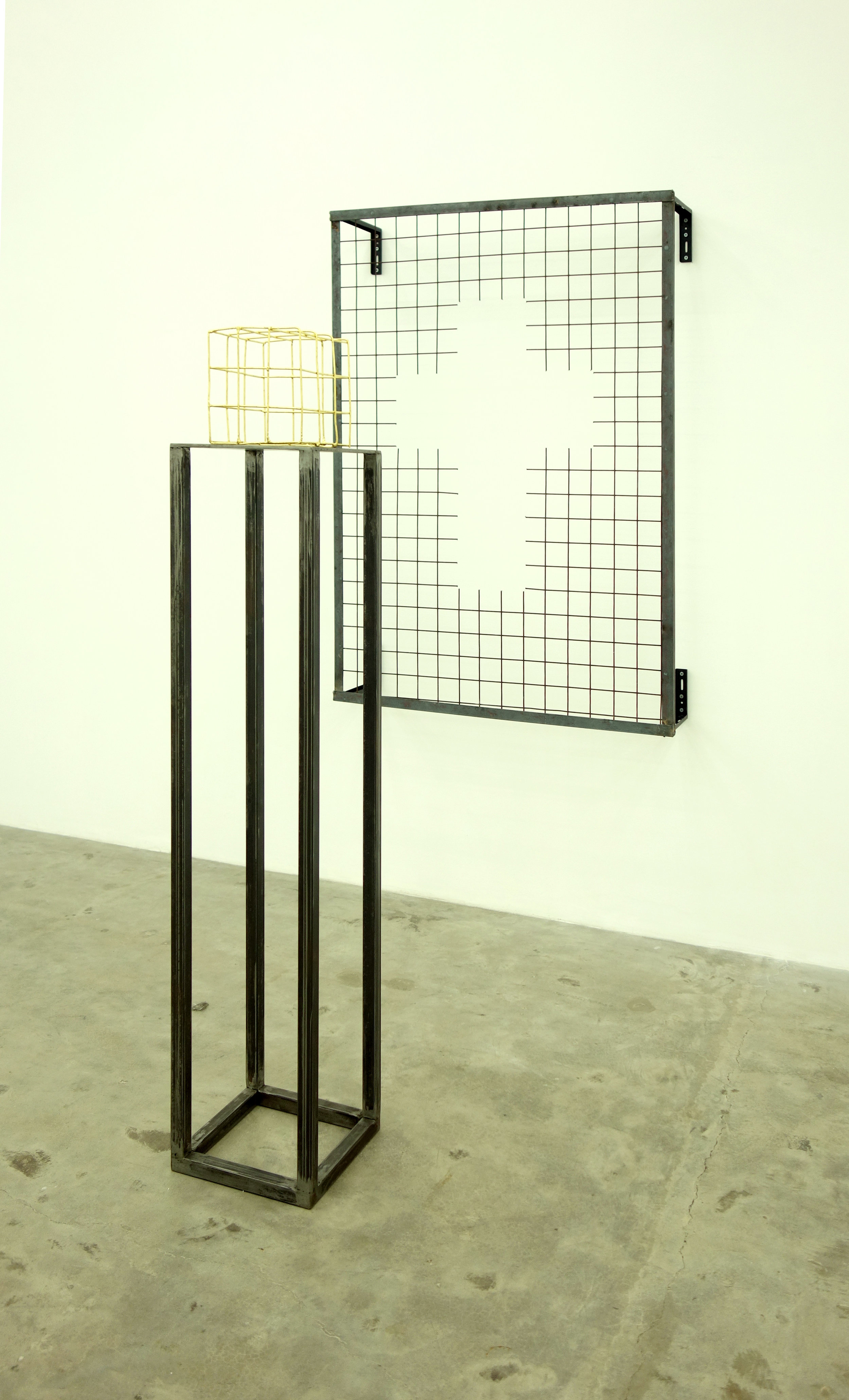 Celine Lee - Installation View (How to Make a Cube+A 23k Gold Leaf Gilded Cube) 2019.jpg
