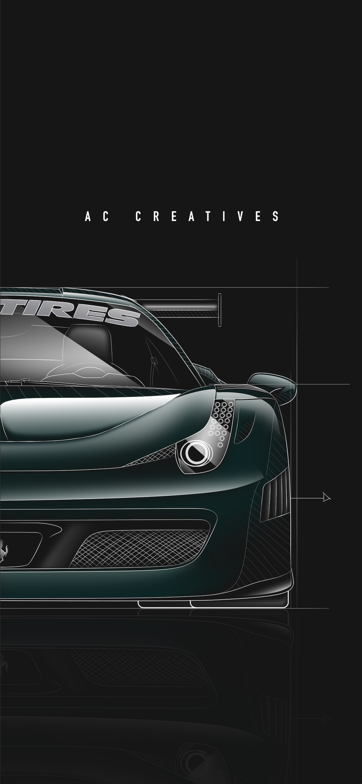 Tj Hunt Ferrari Wallpaper Ac Creatives Graphic Design Illustration